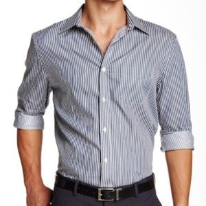 Perry Ellis Striped Button Up Shirt